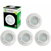 Lot de 5 Spot Led Encastrable Complete Blanc Orientable lumière Blanc Neutre eq. 50W ref.888
