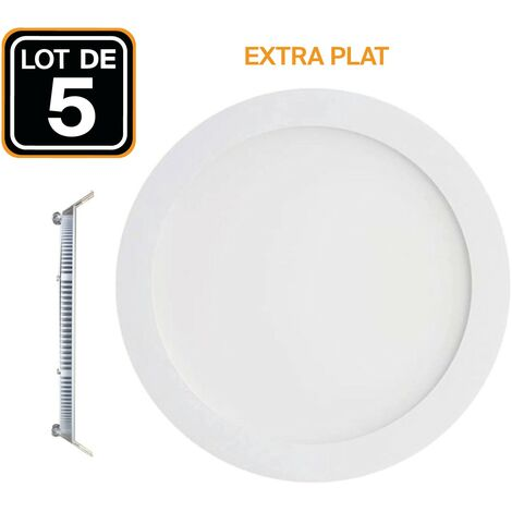 Lot de 5 Spots Encastrable LED Downlight Panel Extra-Plat 3W eqv. 24W