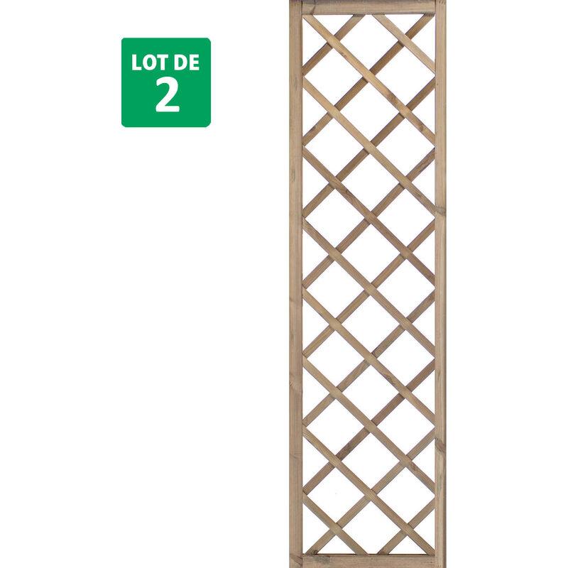 Forest-style - Lot de 2 treillis 180 cm x 40 cm - SOPRANO
