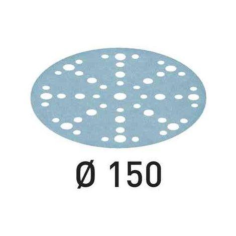 Lot de 50 abrasifs Ø150mm STF 48 +1 trous grain 80 FESTOOL 575162