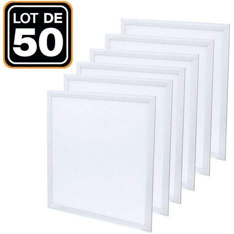 Lot de 50 Dalles Led 40W 60X60 PMMA Blanc Neutre 4000K Haute Luminosité