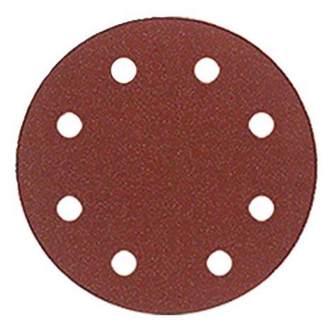 Lot de 50 disques auto-agrippant pour ponceuse orbitale D. 150 mm Gr. 100 8 trous pour bois et métal - 150.80.100 - Leman
