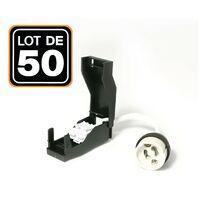 Lot de 50 Douilles GU10 Céramique Automatique 230V classe 2 - op050