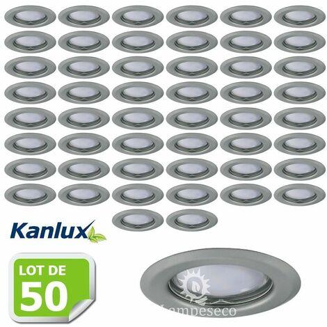 Lot de 50 Fixation de spot encastrable chrome matt D83mm marque Kanlux ref 26793