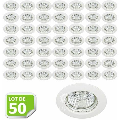 Lot de 50 Fixation de spot encastrable Classic White Diamètre 77mm ref. 932
