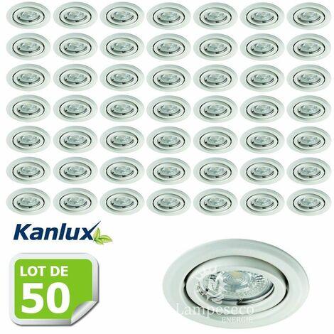 Lot de 50 Fixation de spot encastrable orientable blanc D99mm marque Kanlux ref 26795