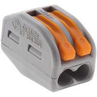 Lot de 50 mini bornes de connexion rapide à levier S222 pour fils rigides et souples - 2 entrées - Wago