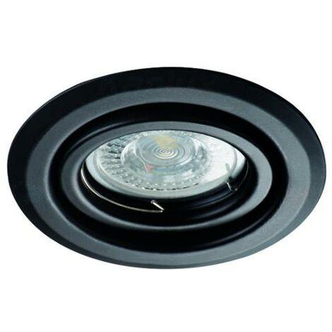 Lot de 50 Spots encastrables orientables rond Noir pour spot LED