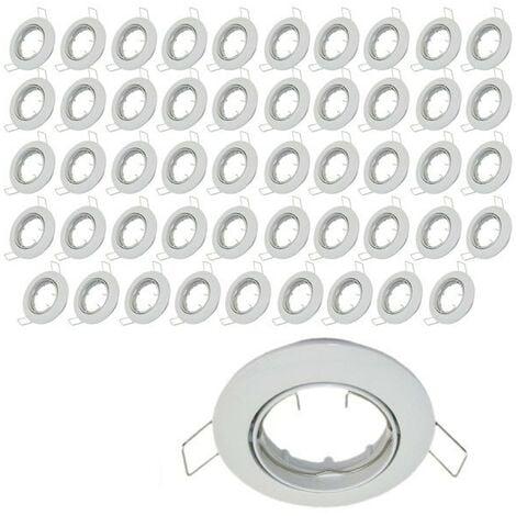 Lot de 50 supports encastrable orientable blanc D82