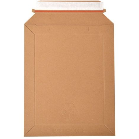 Lot de 500 enveloppes carton B-Box 2 MARRON compatible Lettre Suivie / Lettre Max La Poste