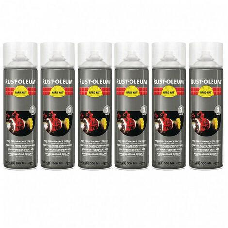 Lot de 6 aérosols de peinture industrielle Hard Hat RUST-OLEUM RUSTOLEUM - plusieurs modèles disponibles