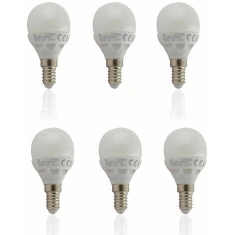 "main image of ""Lot de 6 Ampoules E14 LED 6W Globe Eq 40W - Blanc Naturel 4500K"""