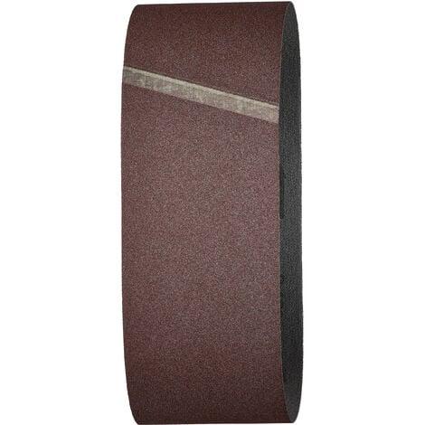Lot de 6 Bandes Abrasives, Grain 120, Dimensions 75 x 533 mm, pour Ponceuse à Bande - wolfcraft 3104000
