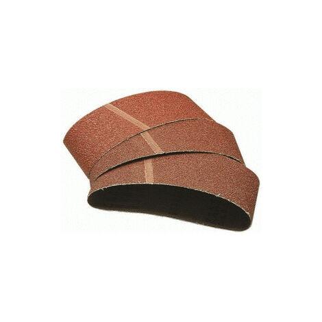Lot de 6 Bandes Abrasives, Grain 80, Dimensions 75 x 533 mm, pour Ponceuse à Bande - wolfcraft 3103000