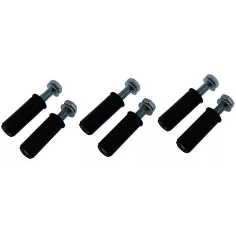 Lot de 6 boulons M8 de fixation goudron/asphalte (diam. 8mm)