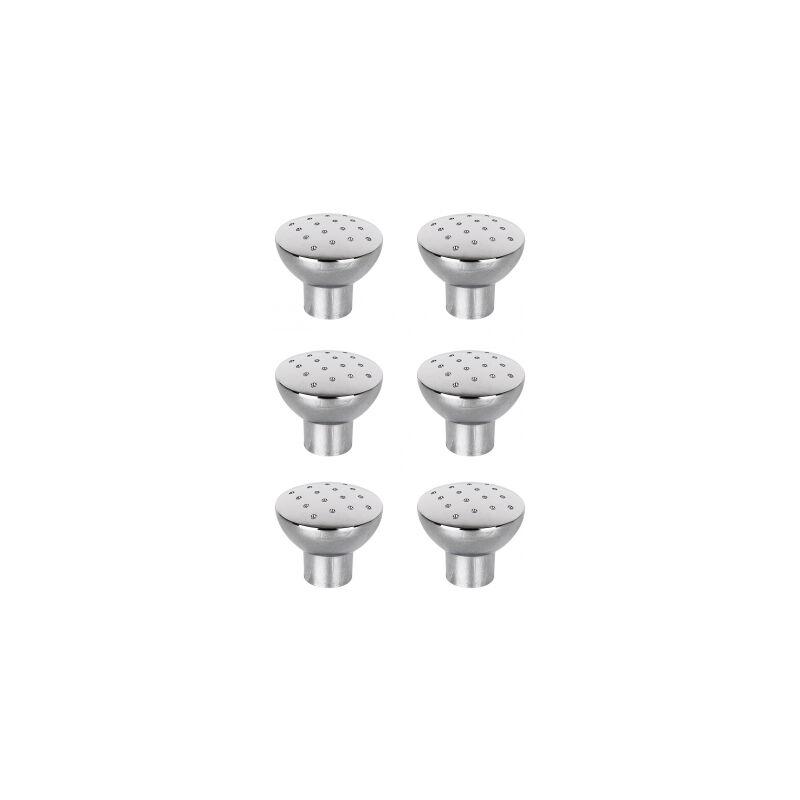 Lot de 6 Round pin armoire boutons diamètre 30 mm Inc Vis