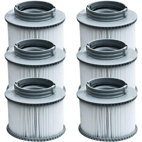 Lot de 6 cartouches filtrantes à baïonnette pour spa gonflable MSPA