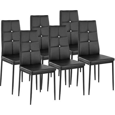 Lot de 6 chaises avec strass