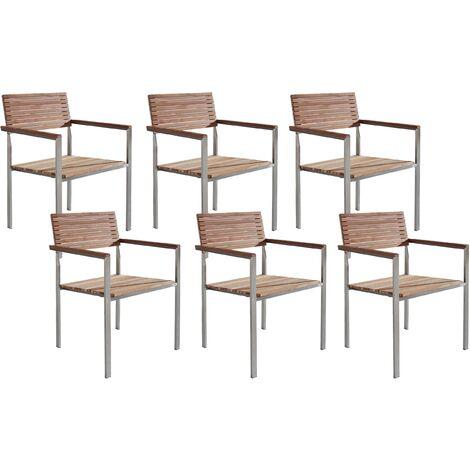 Lot de 6 chaises de jardin en acier VIAREGGIO