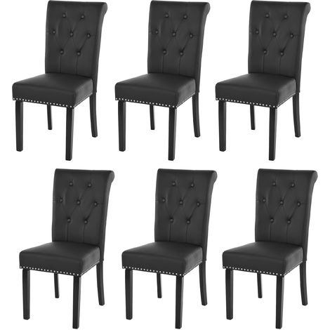 Lot de 6 chaises de salle à manger Chesterfield II av rivets