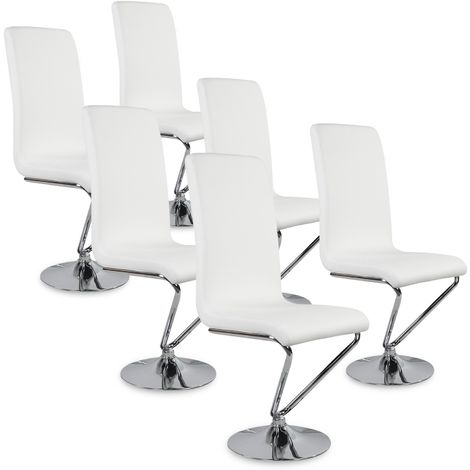 Lot de 6 chaises design Colami Blanc