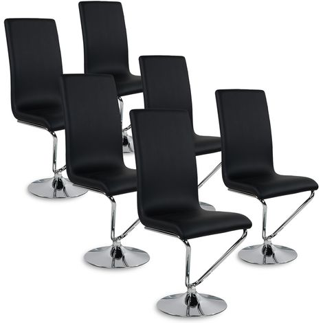 Lot de 6 chaises design Colami Noir