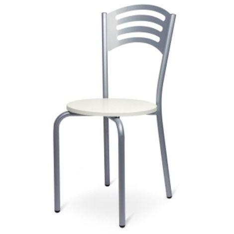 Lot de 6 Chaises Empilables en Métal pour Restaurants Taille 40x40x45 87h cm