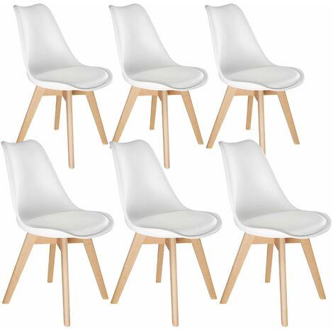Lot de 6 chaises FRIEDERIKE style scandinave - lot de 6 chaises de salon, chaises de cuisine, chaises scandinaves