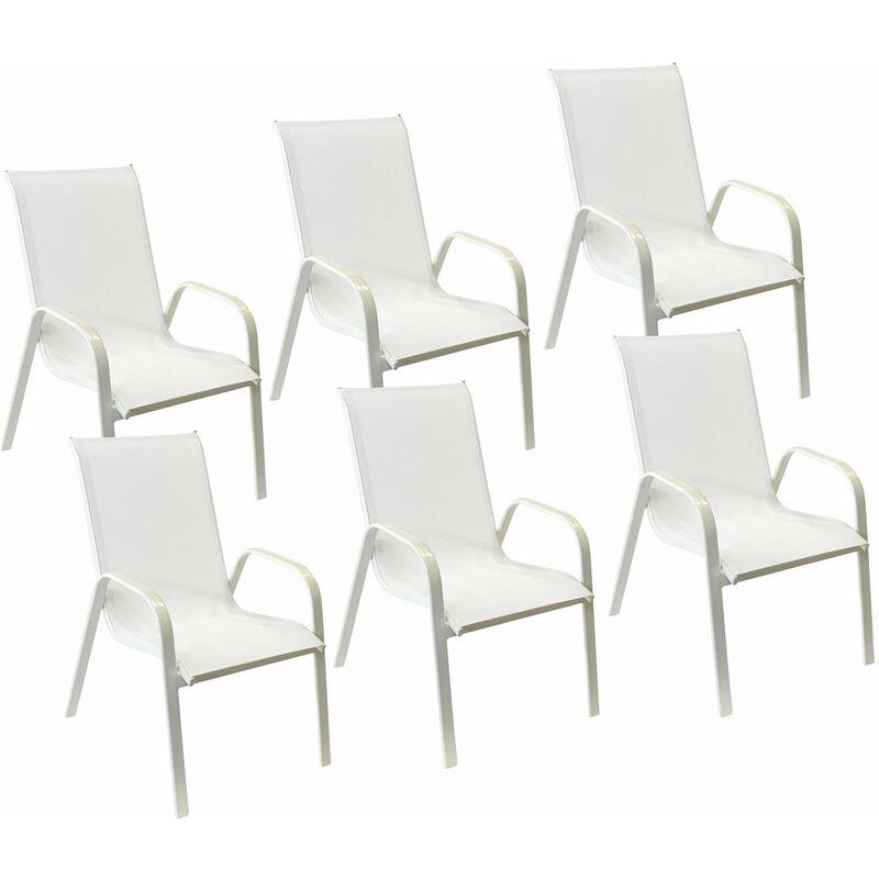 Mobilier de jardin Chaises Happy Garden Lot de 6 chaises ...