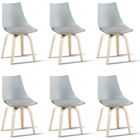 Lot de 6 chaises scandinaves blanches - Nicosie - Designetsamaison - Blanc
