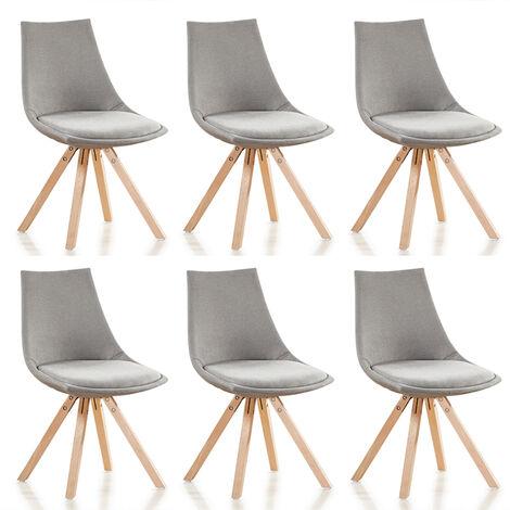 "main image of ""Lot de 6 chaises scandinaves - Minsk - Designetsamaison"""
