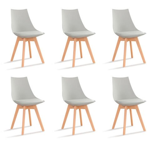 Lot de 6 chaises scandinaves patchwork - Prague - Designetsamaison - Patchwork