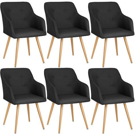 Lot de 6 chaises style scandinave TANJA - chaise scandinave, fauteuil scandinave, chaise vintage