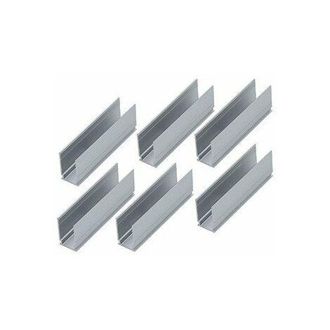 Lot de 6 clips de montage Plug & Shine - Pour strip LED Néon - Blanc