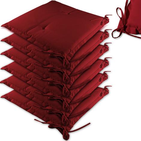 Lot Pour Rouge Fauteuils 6 Coussins Jardin De Chaises Maison 7gbf6yY