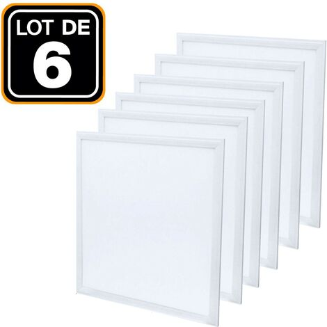 Lot de 6 Dalles LED 40W 60x60cm