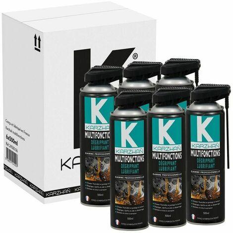 Lot de 6 dégrippant / lubrifiant multifonctions 500ml Karzhan