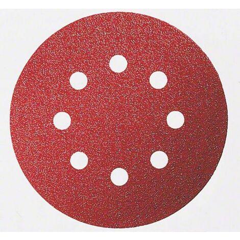 Lot de 6 Disques abrasifs Expert for Wood ø 115mm 8 trous Gr 60-120-140 BOSCH 2608605107