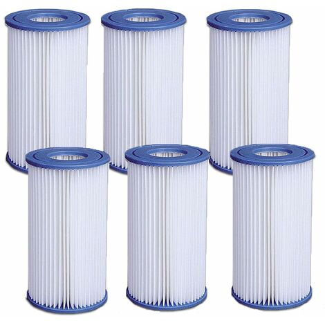 Lot de 6 filtres pour pompe 3,8 et 6m3 jilong