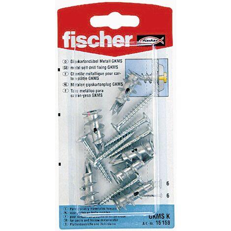Lot de 6 fixations carton-plâtres en métal Fischer GKM 15158 C02308