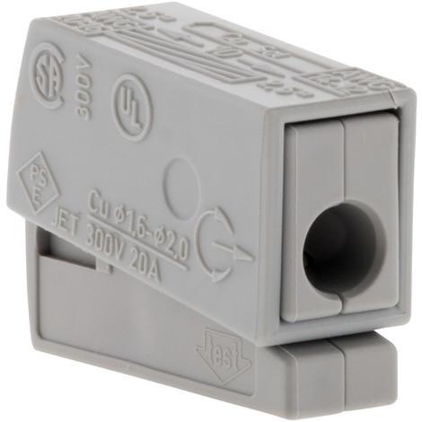 Lot de 6 mini bornes de connexion rapide S224 pour fils souples et rigides - 1 conducteur pour luminaire - Wago