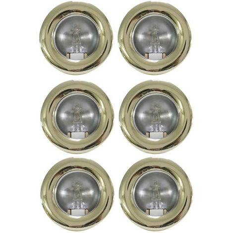 Lot de 6 mini spots fixes encastrables doré Lumières Mini downlight plafond ou placard