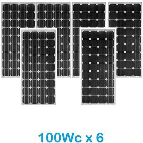 Lot de 6 Panneaux Photovoltaïques VICTRON 100Wc 12V Monocristallins