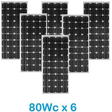 Lot de 6 Panneaux Photovoltaïques VICTRON 80Wc 12V Monocristallins