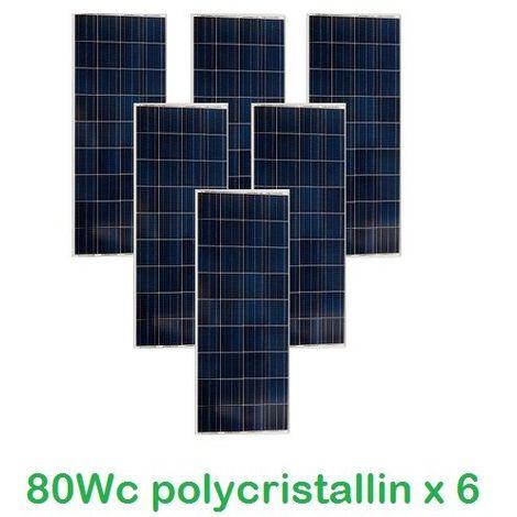 Lot de 6 Panneaux Photovoltaïques VICTRON 80Wc 12V Polycristallins