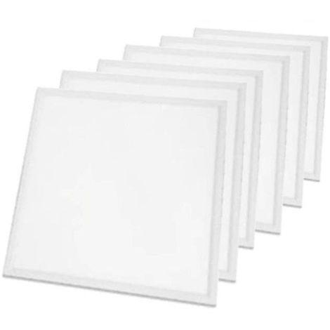 LOT DE 6 PAVES LED 600x600 - 45W - 3600 LUMENS - BLANC BRILLANT - Blanc