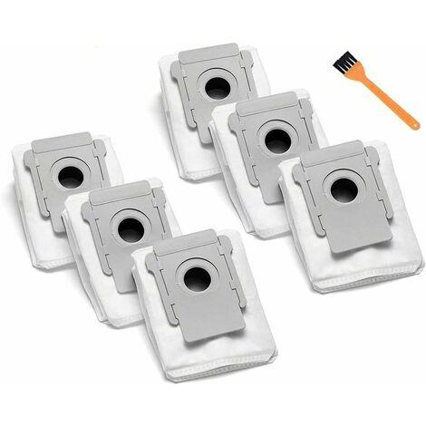 Lot de 6 pièces de sac à poussière de rechange compatibles pour Roomba I7 I7 + I7 Plus (7550) E5 E6 S9 + (9550) Sacs d'élimination automatique de la saleté à base propre de la série I & S