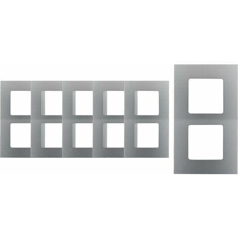 Lot de 6 plaques doubles verticales - Métal - Clarys