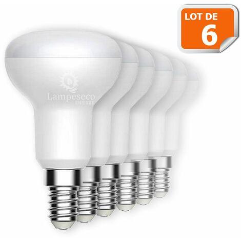 Lot de 6 Réflecteur R50 LED Culot E14 6W eq. 50W 480 lumens Blanc Chaud 3000K