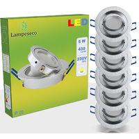 LOT DE 6 SPOT LED ENCASTRABLE ORIENTABLE 5W eq. 50W, BLANC FROID ref.64856000